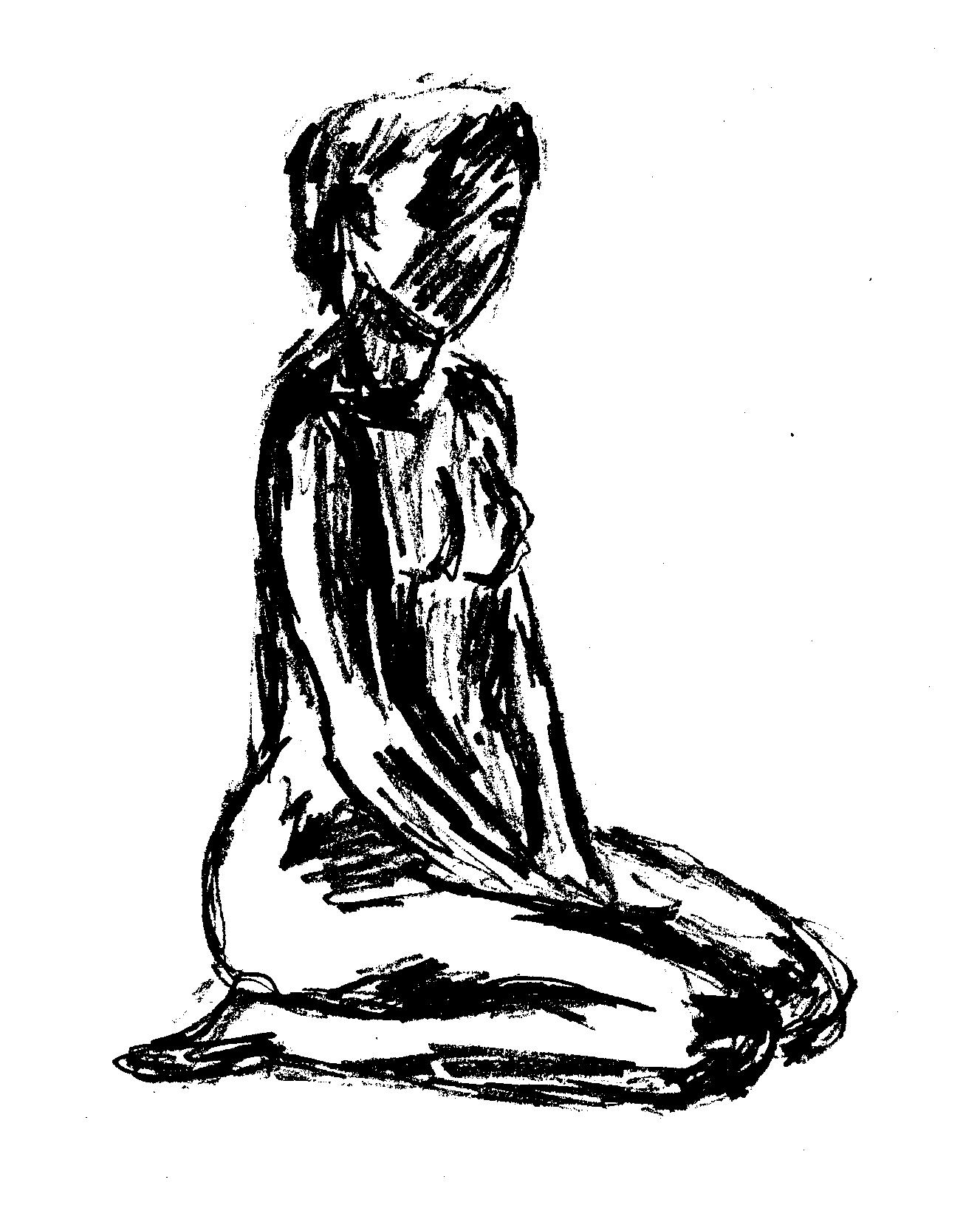 1327x1654 Kneeling Woman By Nibinlondien