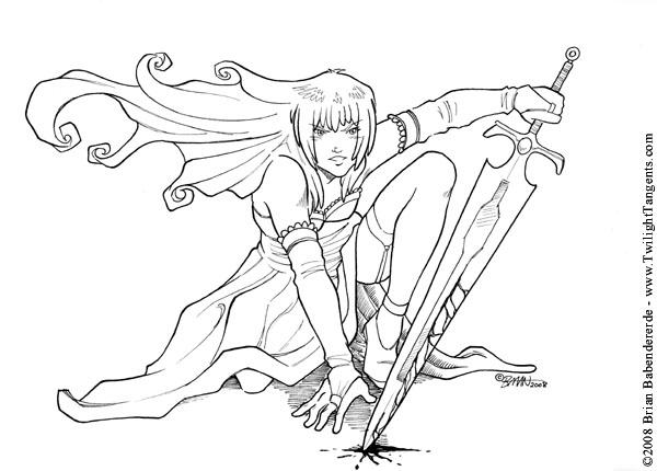 600x430 Con Sketch Kneeling Sword