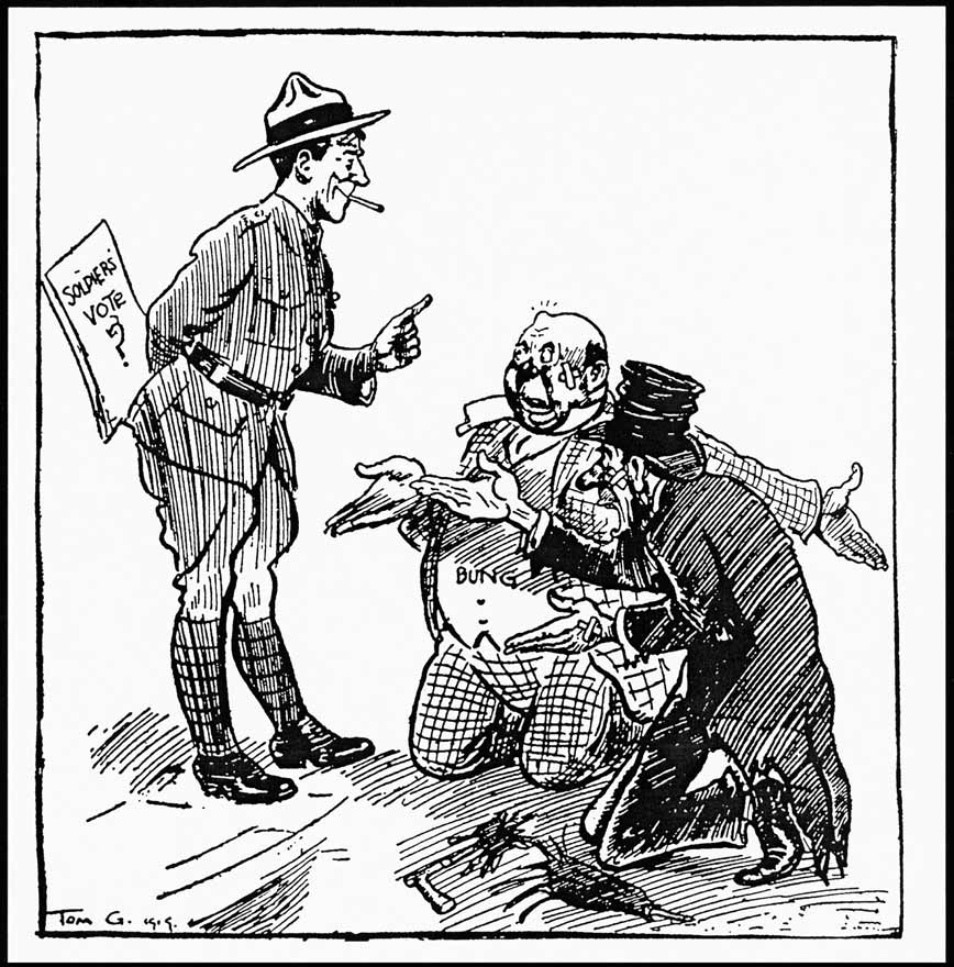 868x880 Prohibition Vote By Soldiers Cartoon Nzhistory, New Zealand