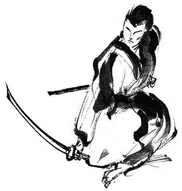 600x628 Warrior Kneeling Drawing