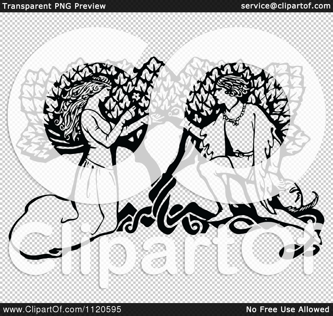 1080x1024 Clipart Of Retro Vintage Blacknd White Couple Kneeling By