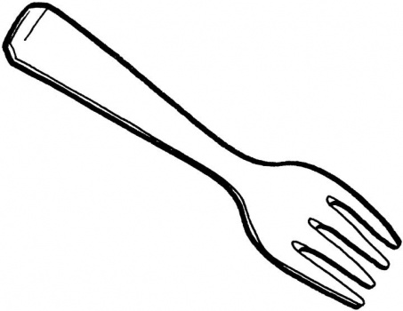 Knife And Fork Drawing at GetDrawings | Free download