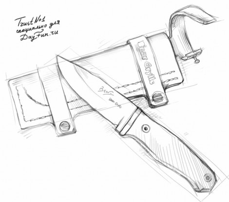 470x415 How To Draw A Knife Step By Step