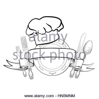 319x320 Drawing Chef Knife Kitchen And Cooking Utensils Stock Vector Art