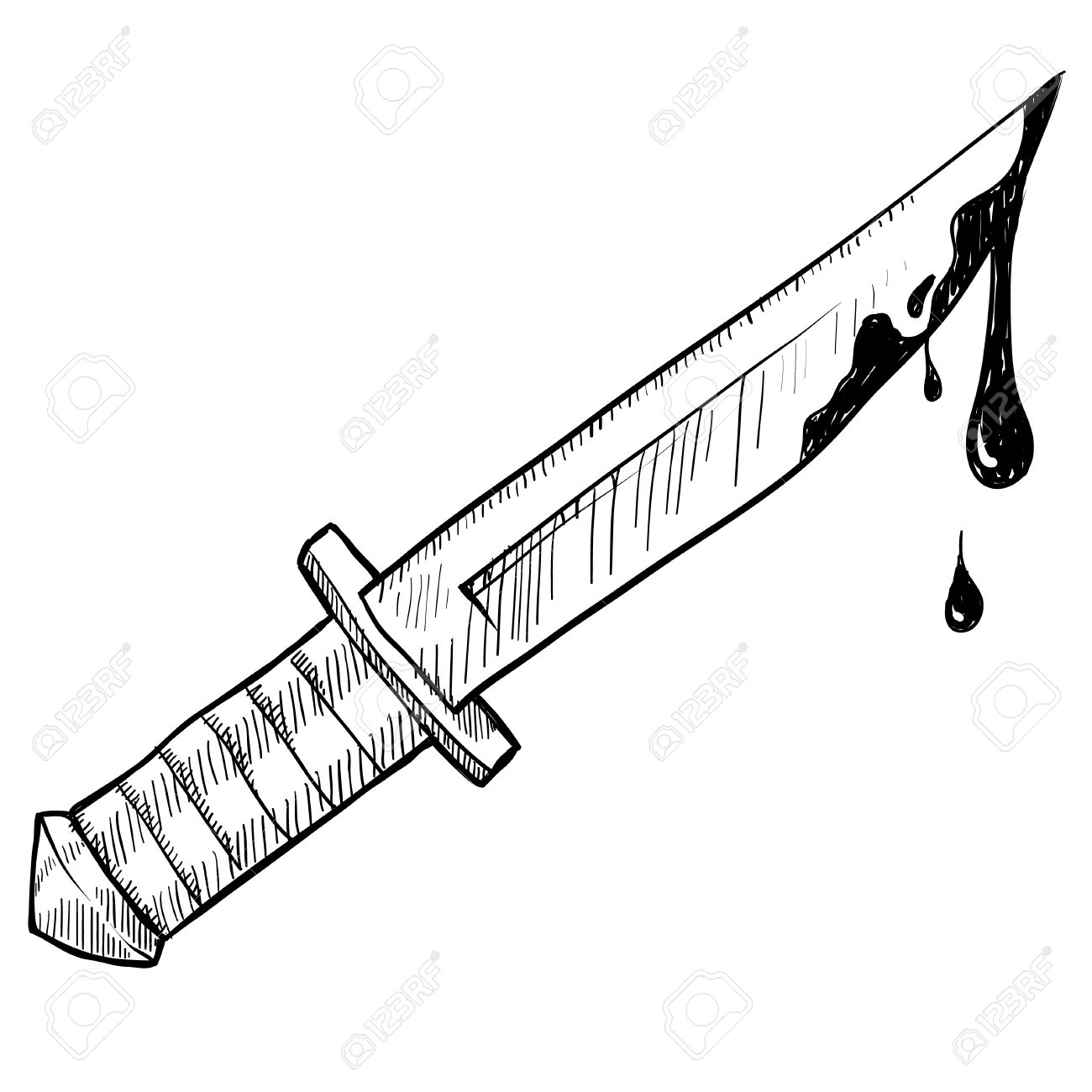 1300x1300 Doodle Style Knife Or Murder Vector Illustration Stock Photo