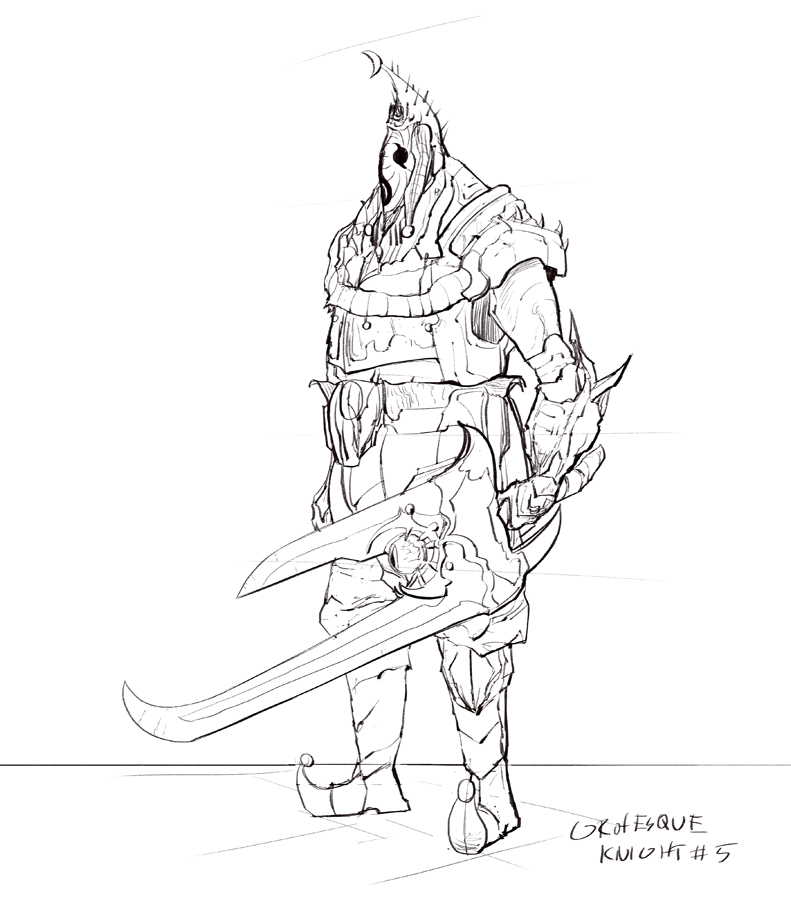 791x900 Grotesque Knight Type 5 Drawing By Brollonks