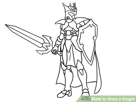 460x345 How To Draw A Knight (With Pictures)