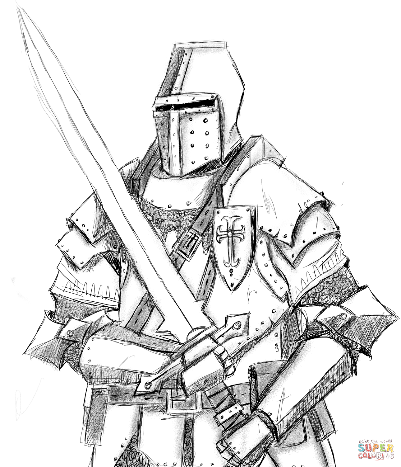 1290x1500 Knight Coloring Page Free Printable Coloring Pages