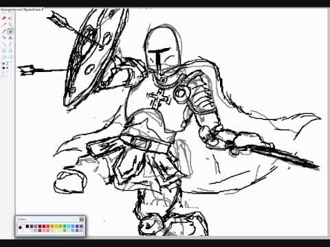480x360 Knight Drawing (Template)