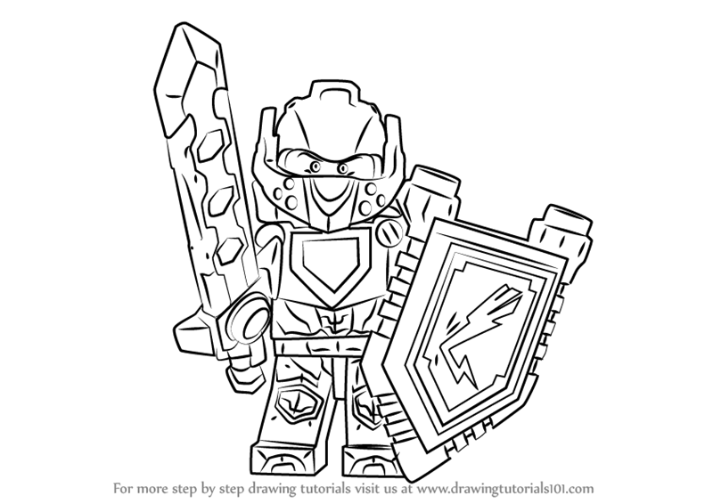 800x566 Learn How To Draw Clay From Lego Nexo Knights (Lego Nexo Knights