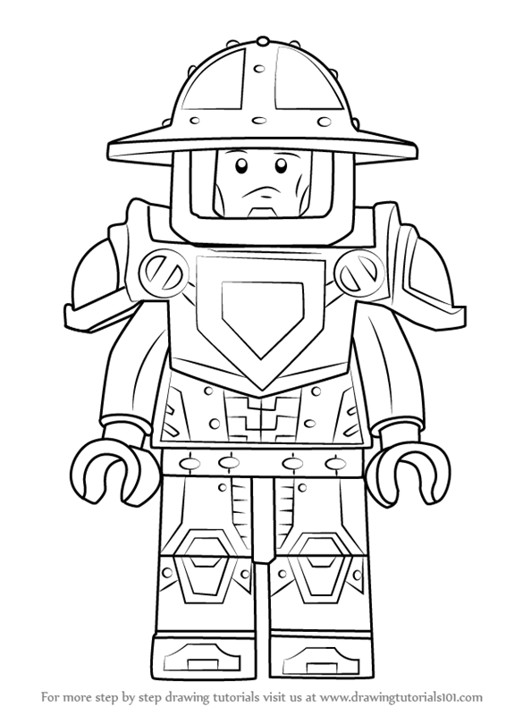 566x800 Learn How To Draw Knight From Lego Nexo Knights (Lego Nexo Knights