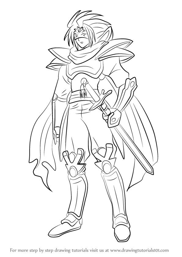 596x843 Learn How To Draw Knight Of Silence, Gallatin From Cardfight