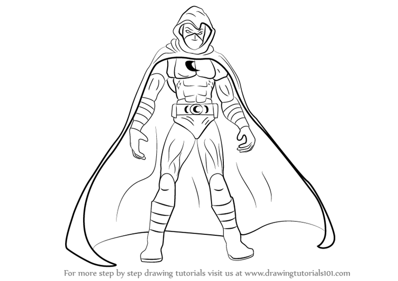 800x565 Learn How To Draw Moon Knight (Moon Knight) Step By Step Drawing
