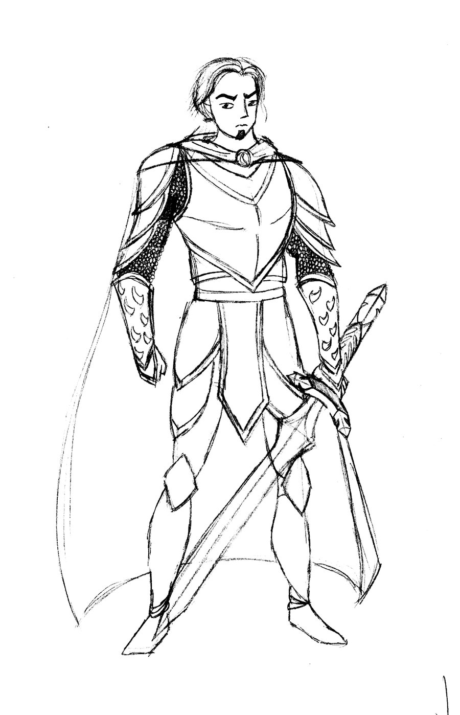 900x1398 The Knight Sketch By Sianalaurie