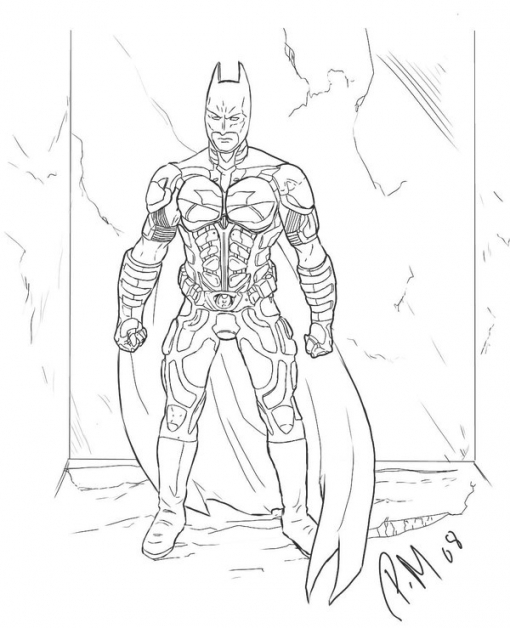 510x628 Free Printable Batman Coloring Pages For Kids Intended For Dark