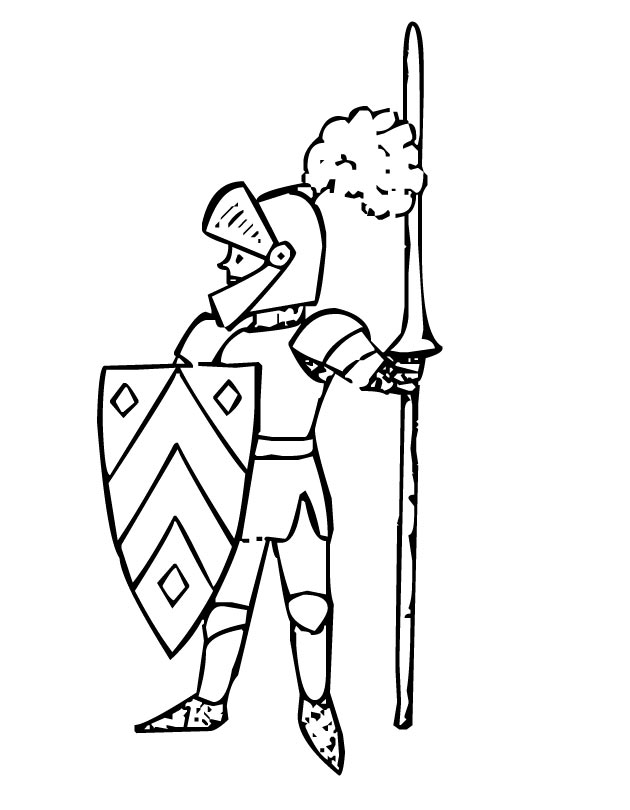 630x810 Knight Coloring Pages