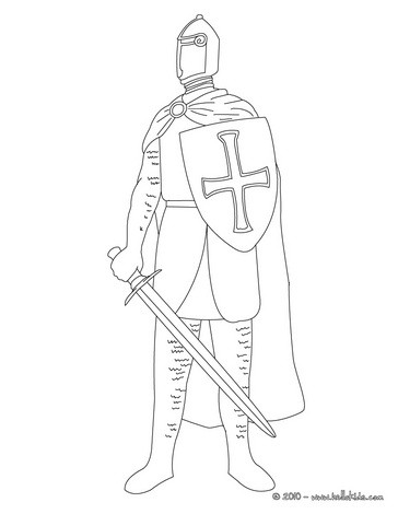 364x470 Knight In Armor Coloring Pages
