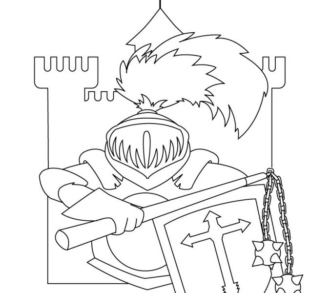 678x600 Knights And Castles For Kids Kids Coloring