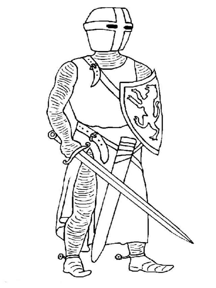 750x1000 Knights Coloring Pages. Download And Print Knights Coloring Pages