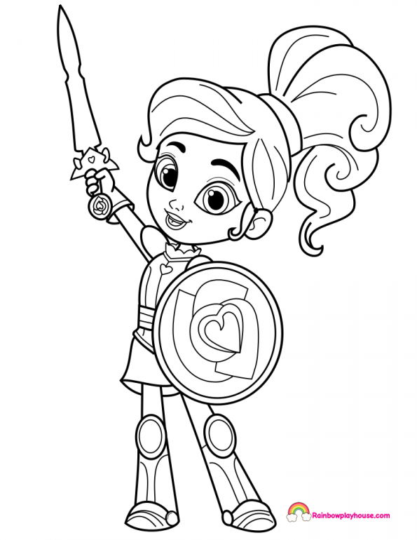 fantasy knights princesses coloring pages - photo#21