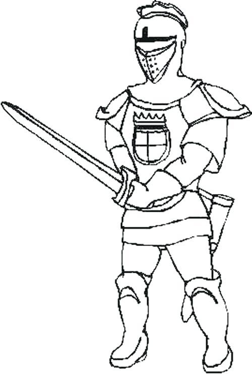500x742 Unique Knight Coloring Pages Best