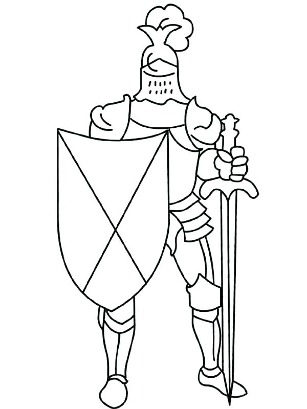 600x800 Elegant Knight Coloring Pages Image Simple Horse Easy And For Kids