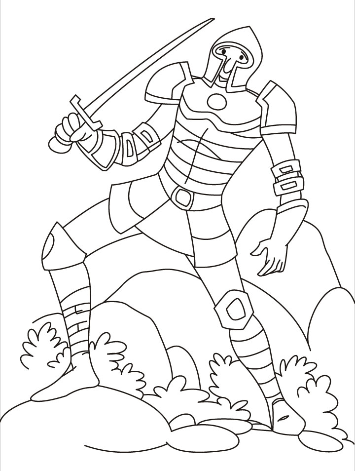 720x954 Knights Coloring Page 421606