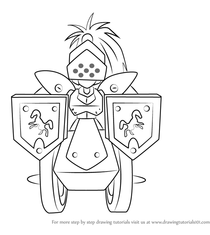 715x800 Learn How To Draw Knight Armor From Medabots (Medabots) Step By