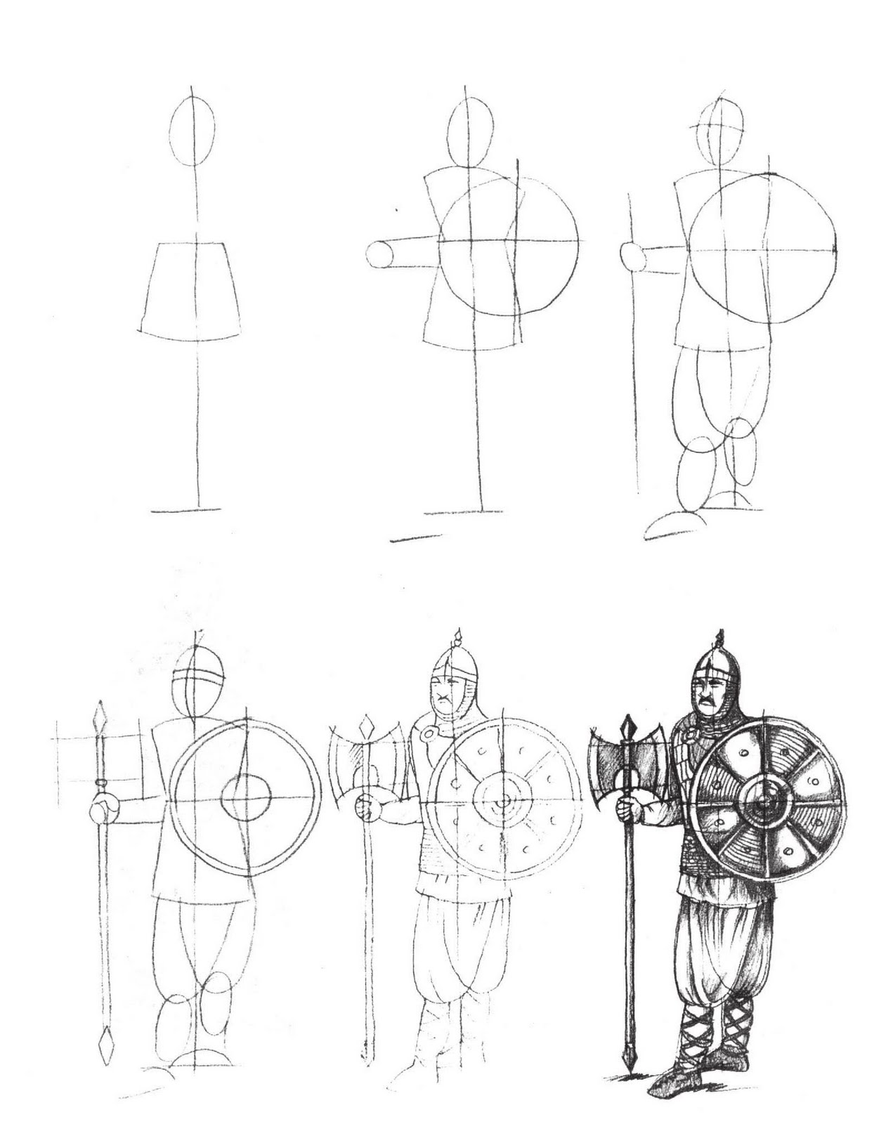 1244x1600 Learn To Draw Knights