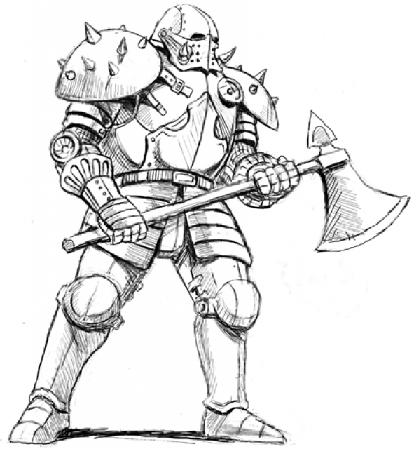 591x640 Stygian Knight (Concept)