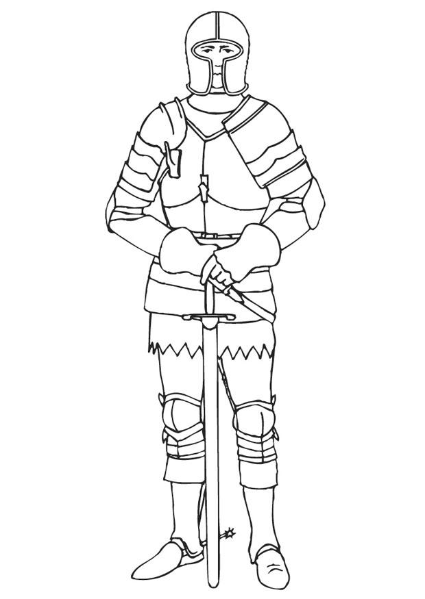 620x875 Coloring Page Knight In Armor