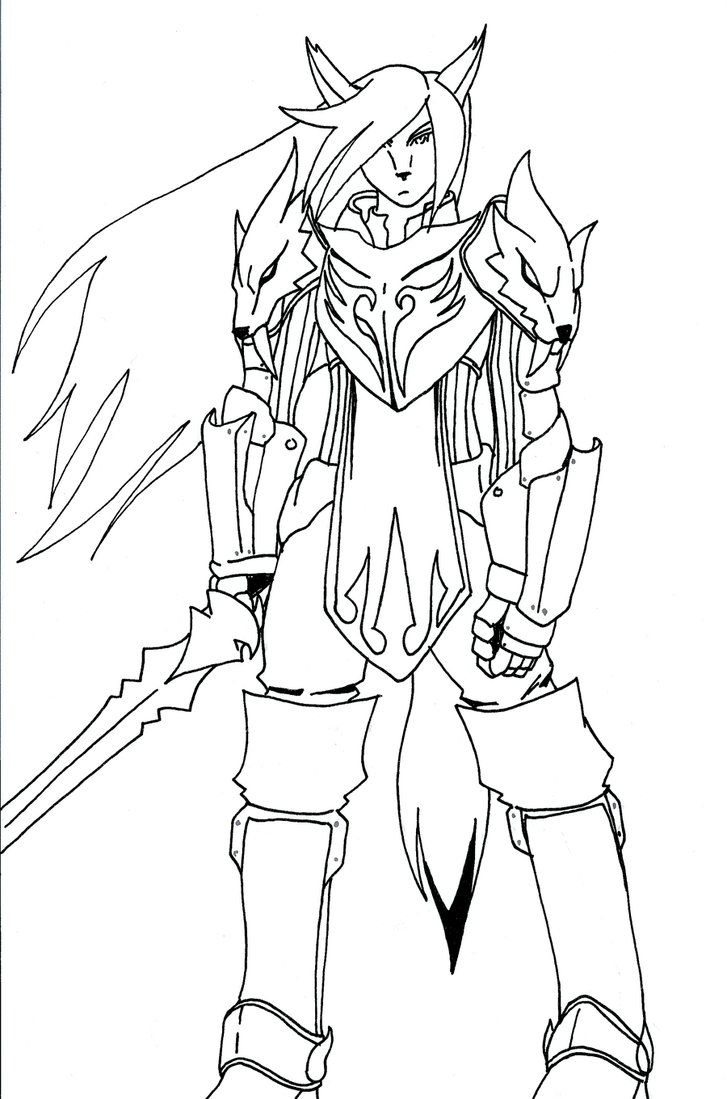 727x1099 Wolf Knight Armor By Bloodyshanglong