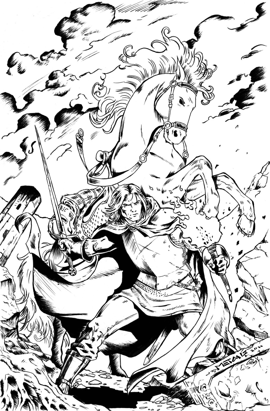 1024x1556 Knight And His Horse By Jason Metcalf Inked By Sullensquid
