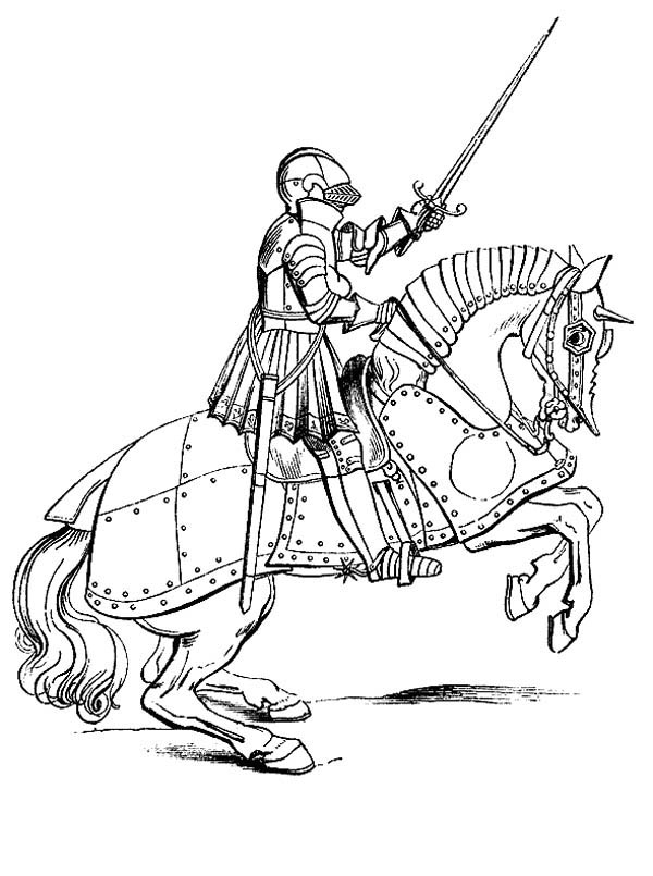 Knight On A Horse Drawing At Getdrawings Com Free For Personal Use
