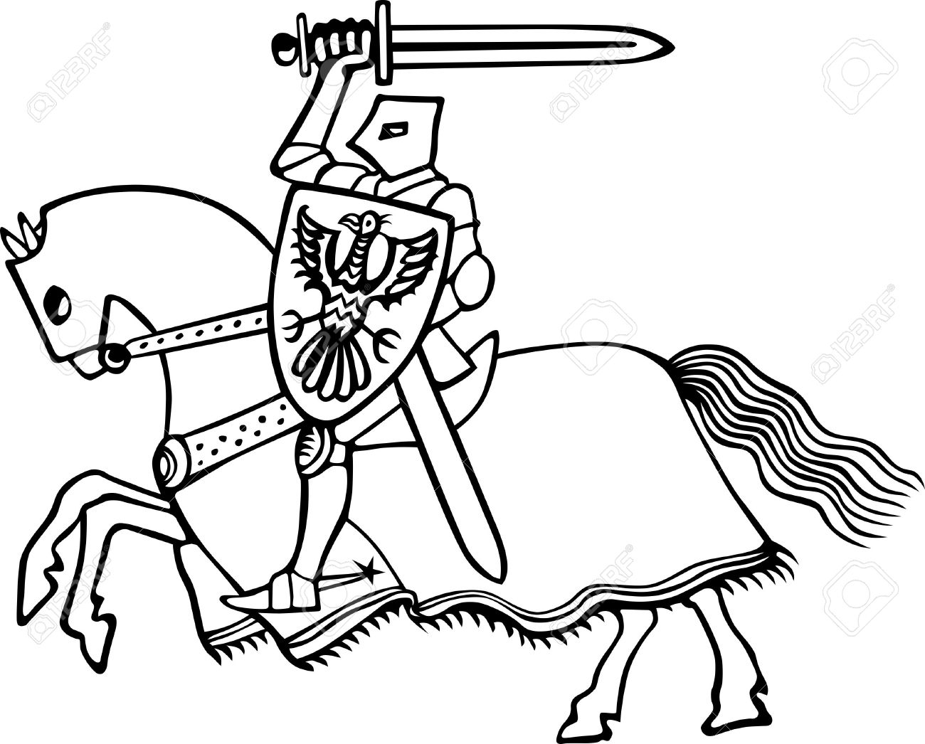 1300x1046 Knight On Horse On White Royalty Free Cliparts, Vectors, And Stock
