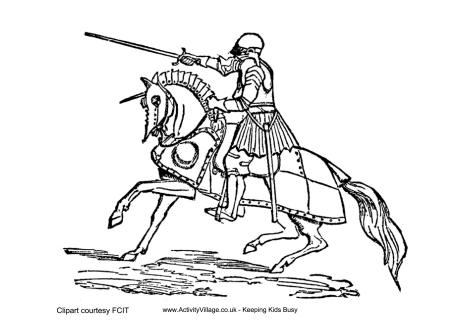 460x325 Strong Knight Coloring Pages 7286