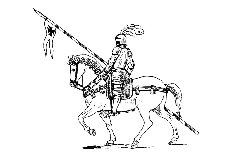 750x531 Coloring Page Knight On His Horse