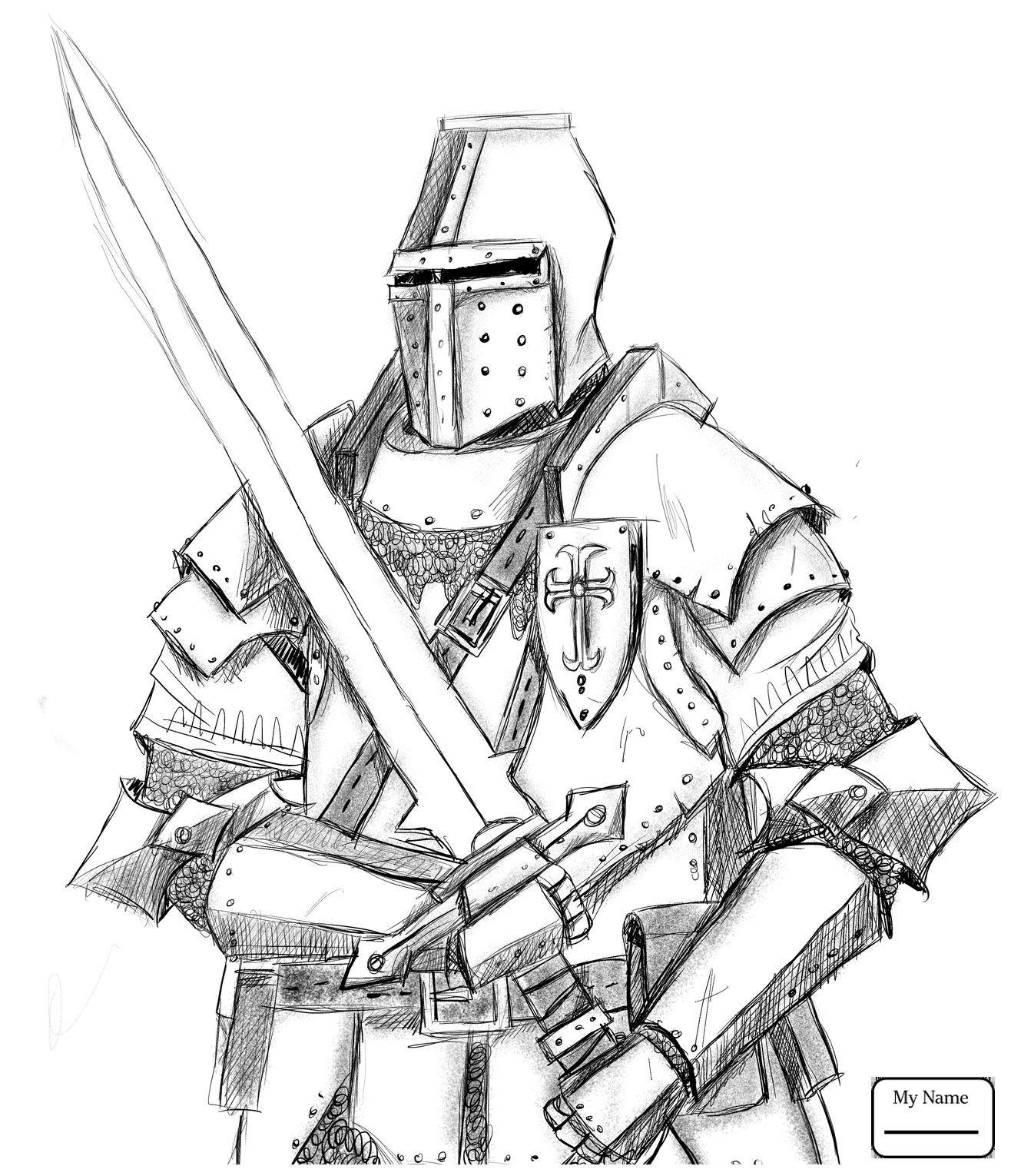 Knight On Horse Drawing at GetDrawings.com | Free for personal use ...