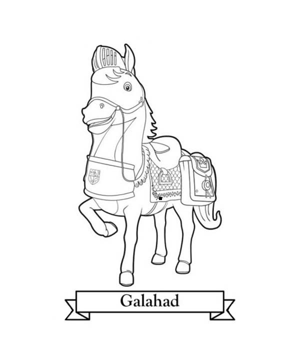 600x706 Galahad The Horse From Mike The Knight Coloring Color Luna