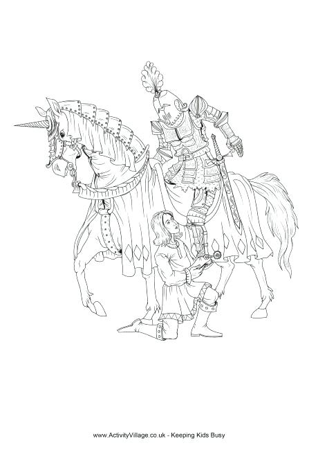 460x650 Knights Coloring Pages Brave Knight Grills The Chicken On Dragon