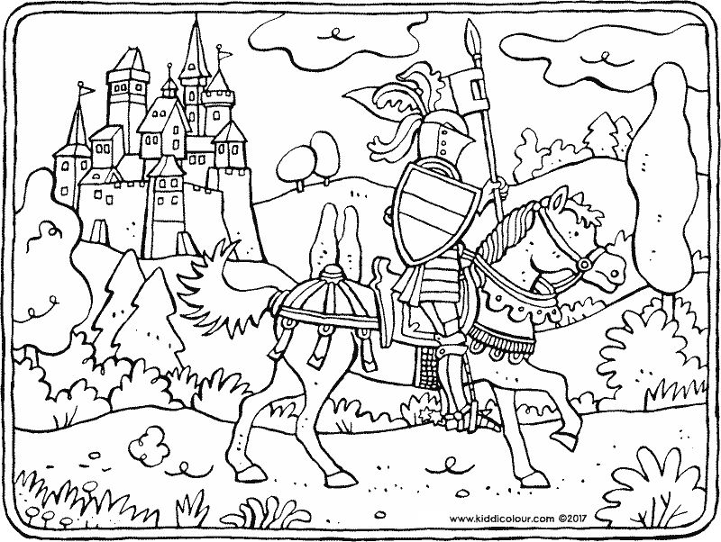 800x602 Knights Colouring Pages
