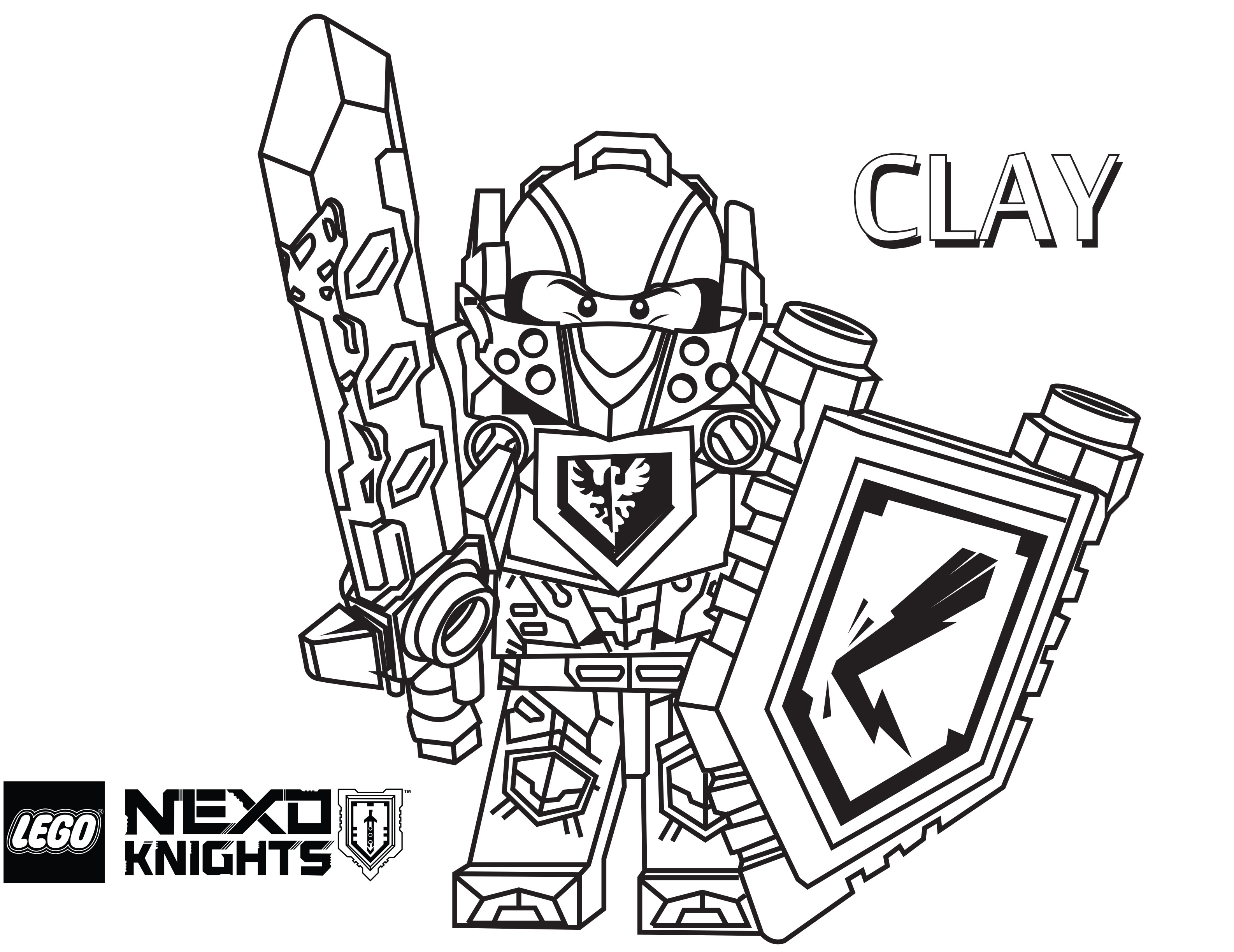 3171x2446 Lego Nexo Knights Coloring Pages Free Printable Lego Nexo