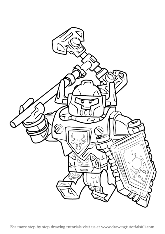 566x800 Learn How To Draw Axl From Lego Nexo Knights (Lego Nexo Knights