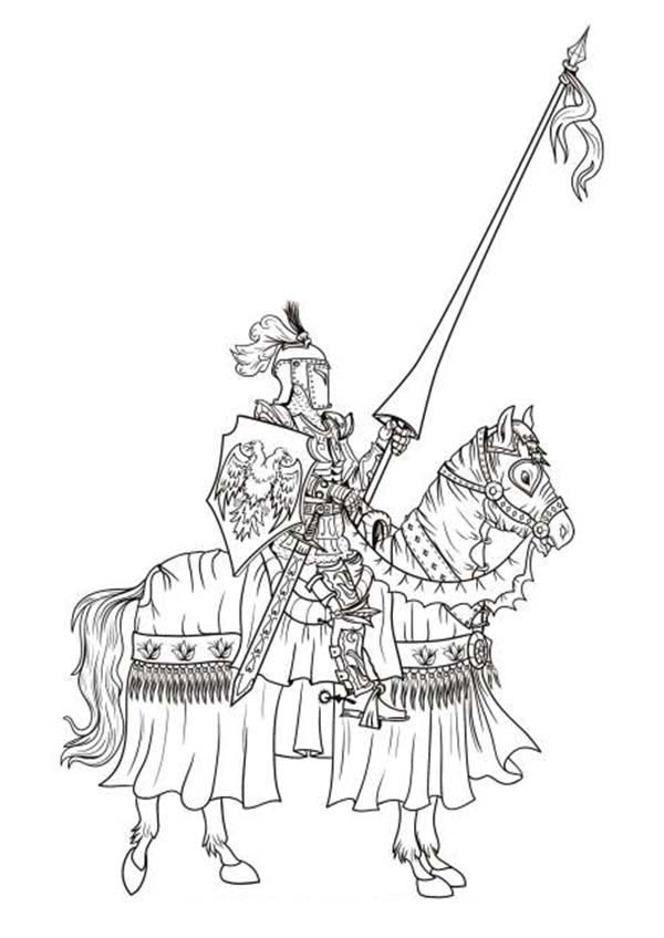 600x848 Lego Knights One On One Battle Coloring Pages Batch Coloring