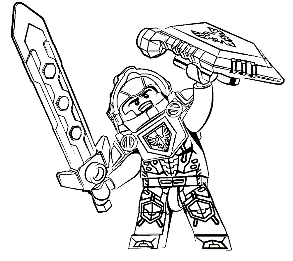 1000x894 Nexo Knights Coloring Pages