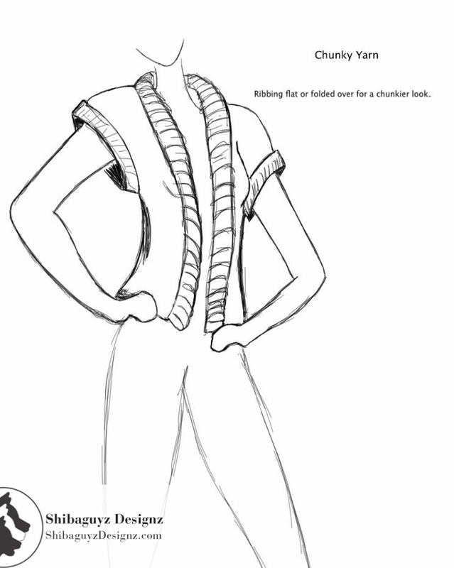 639x800 Women's Ribbed Edge Knit Vest Knitting Pattern