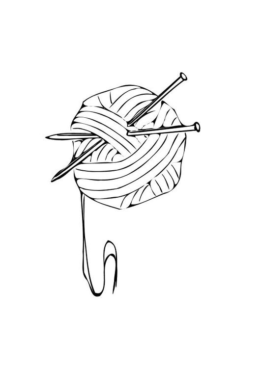 531x750 Coloring Page Knitting