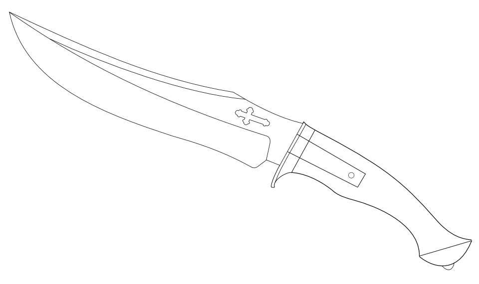 960x570 Drawn Khife Hunting Knife