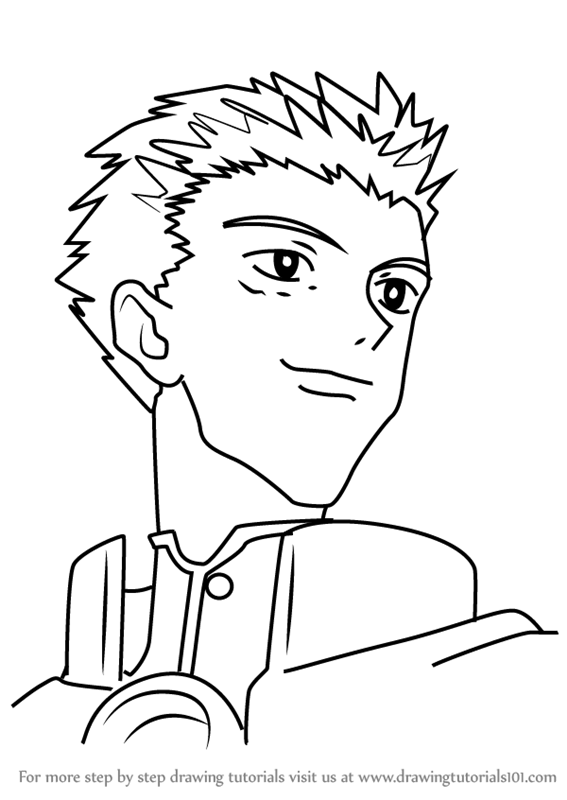 567x800 Learn How To Draw Millions Knives From Trigun (Trigun) Step By