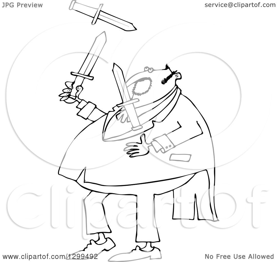 1080x1024 Lineart Clipart Of A Black And White Chubby Man In A Tuxedo